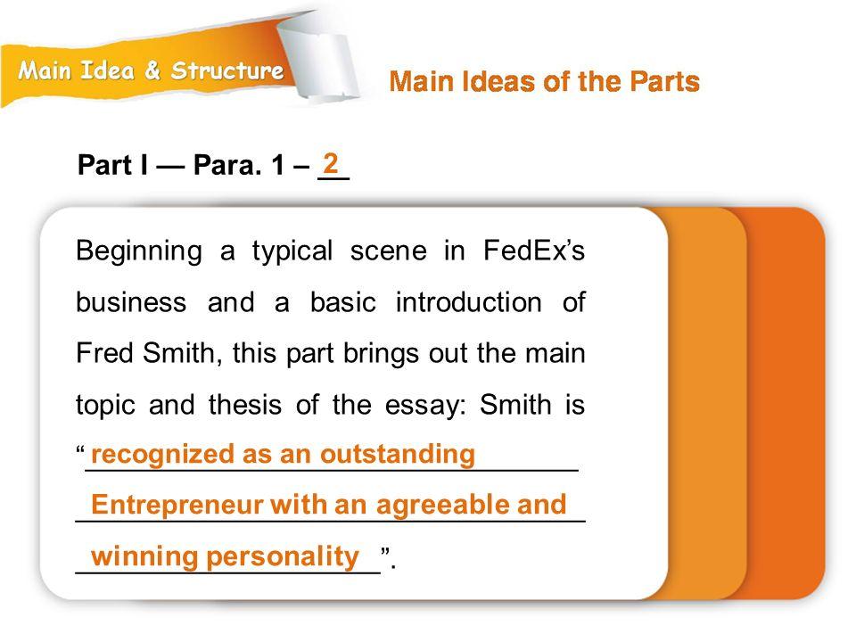 Part I — Para. 1 – __ 2.