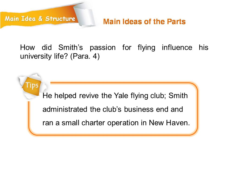 How did Smith's passion for flying influence his university life (Para. 4)