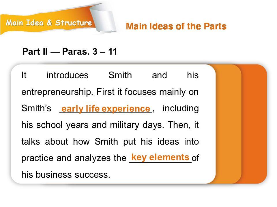 Part II — Paras. 3 – 11