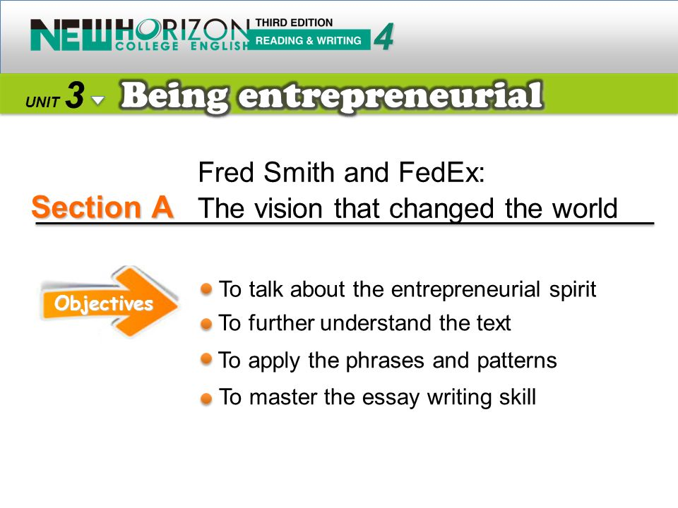 Section A 4 3 Being entrepreneurial Fred Smith and FedEx: