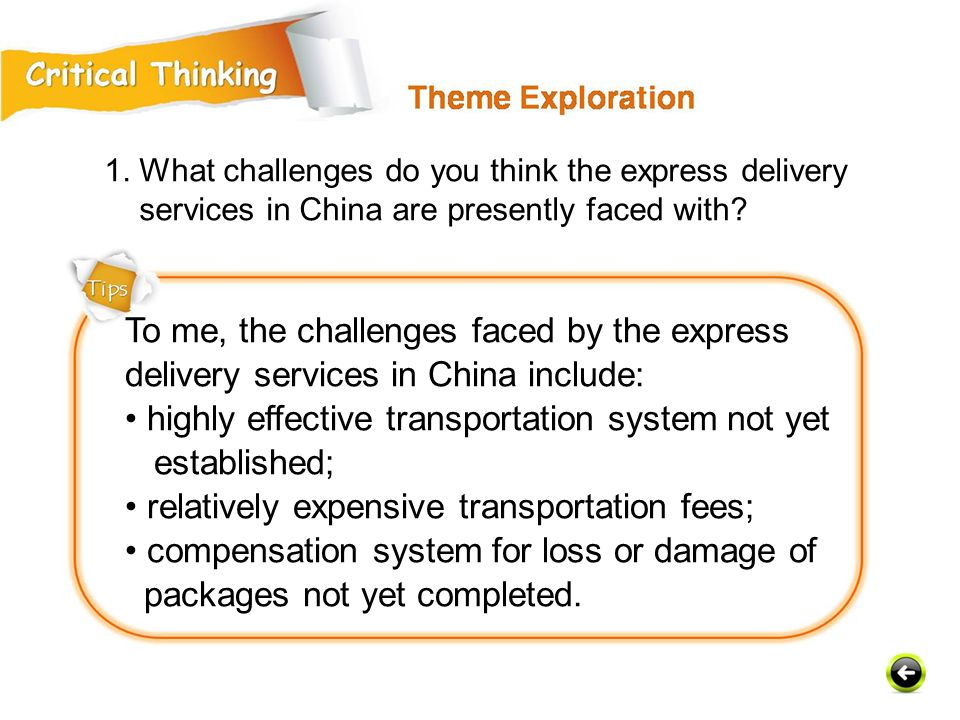 To me, the challenges faced by the express