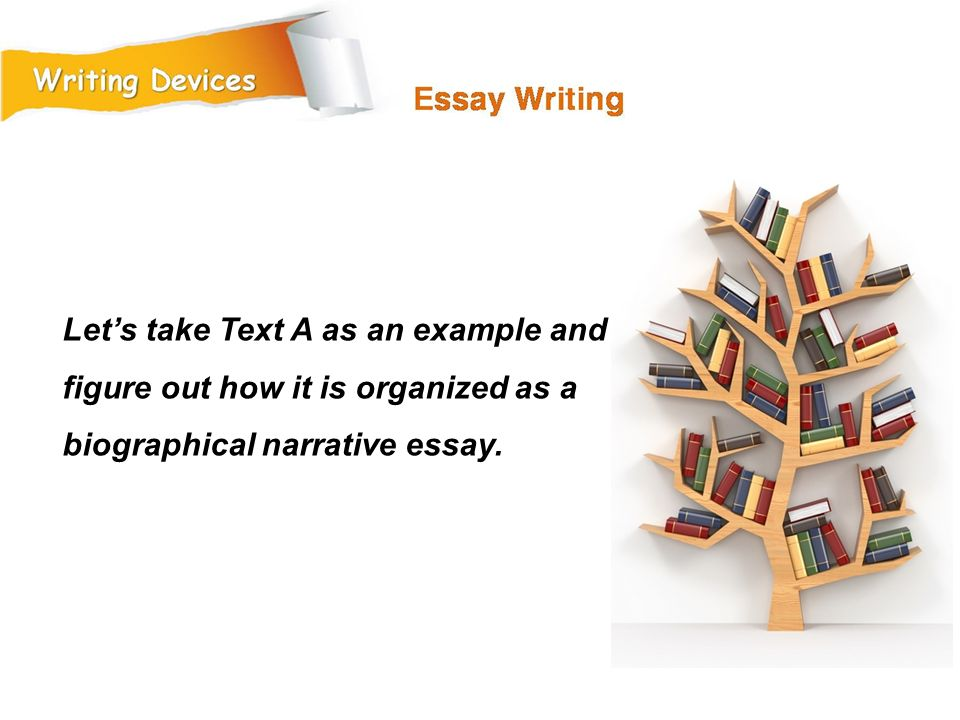 Let's take Text A as an example and figure out how it is organized as a biographical narrative essay.