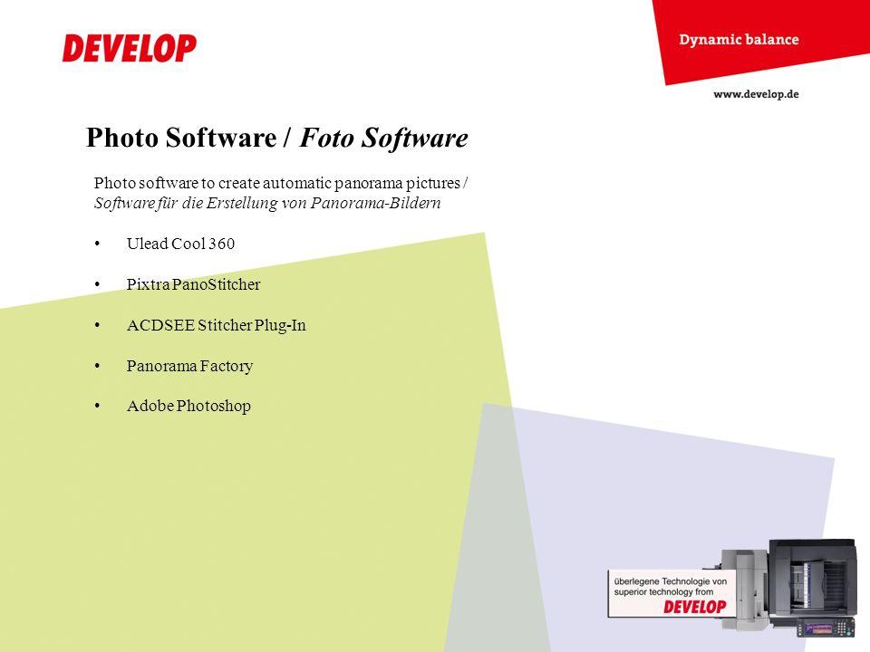 Photo Software / Foto Software