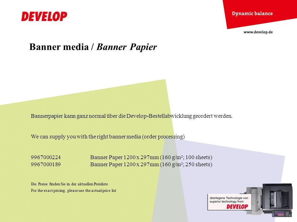 Banner media / Banner Papier