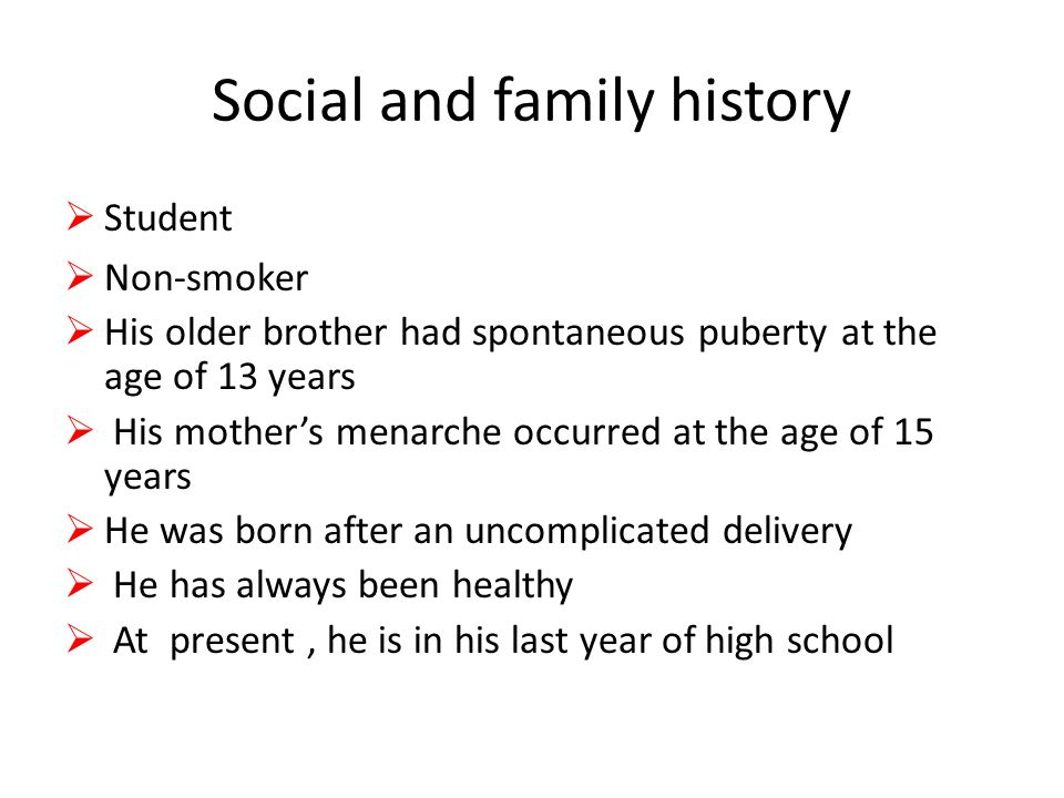 Social and family history