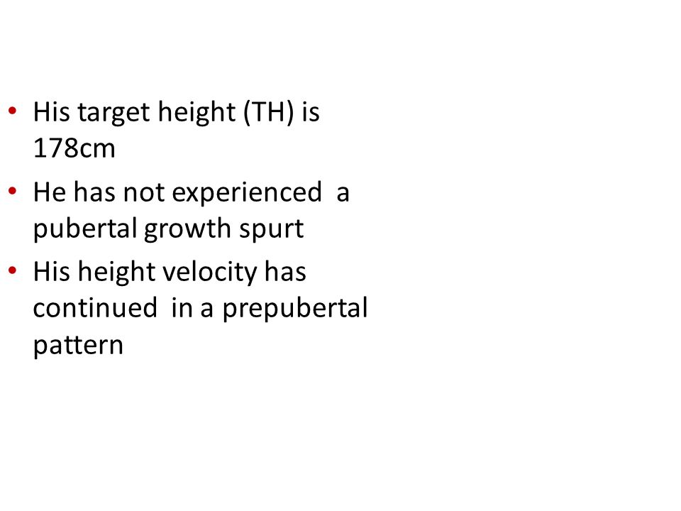 . His target height (TH) is 178cm