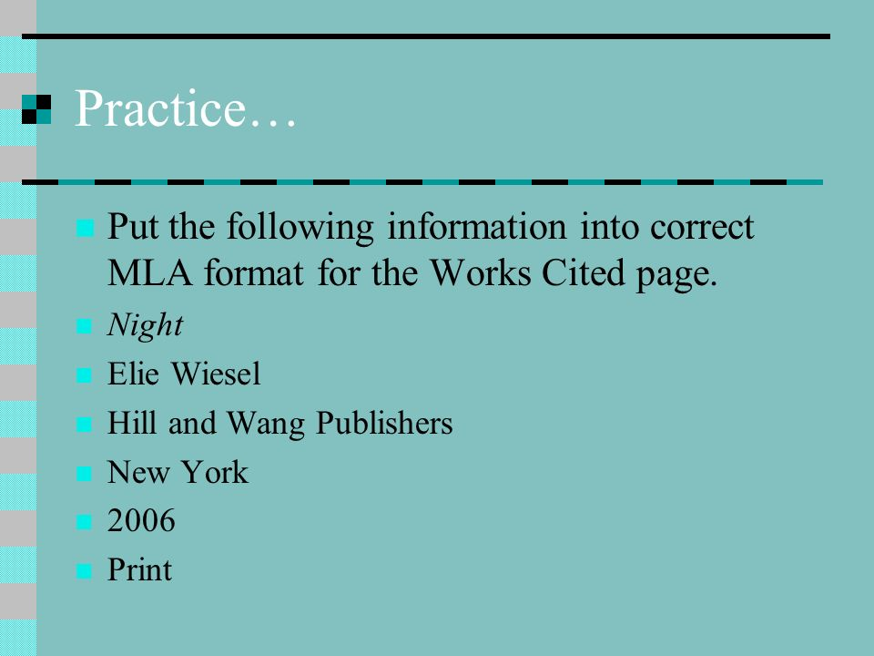 put into mla format Mla format guide to help you create your mla citations for all sources learn how to cite a website, cite a book, cite a journal and many others.