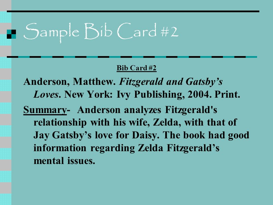 research paper biblography cards Creating bibliography cards and note cards for the research paper what is a bibliography card for example, if your research paper is.