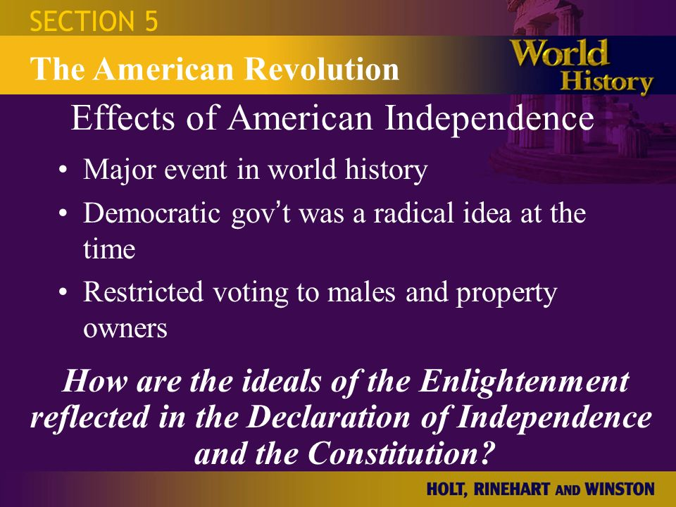 The impact of the american revolution to the rest of the world