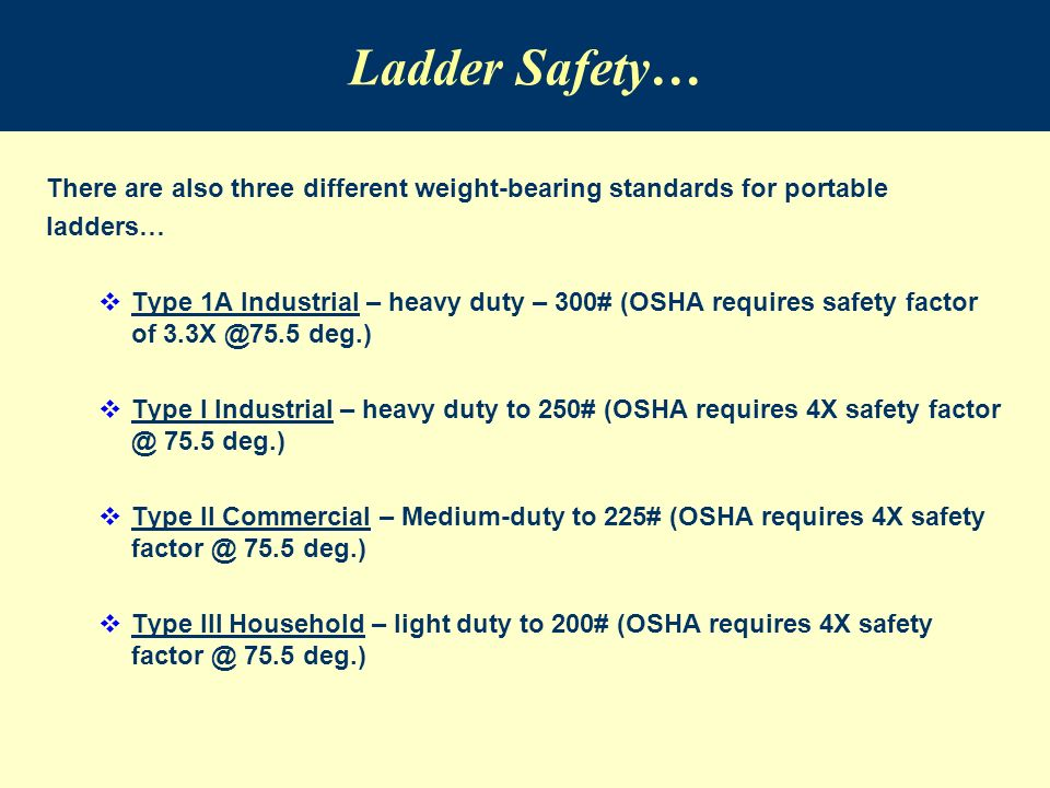 Ladder Safety An Introduction To Ladder Safety Awareness