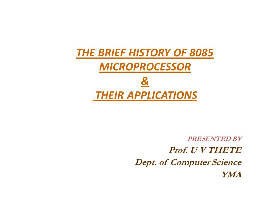 Microprocessors and applications ppt video online download.