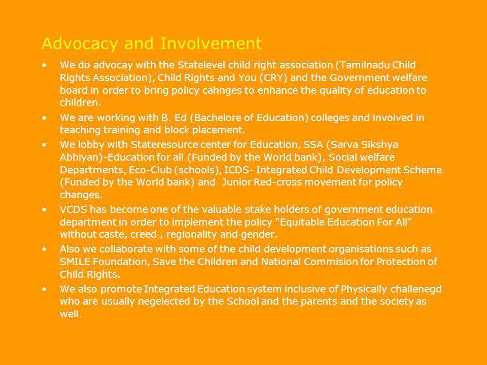 Advocacy and Involvement