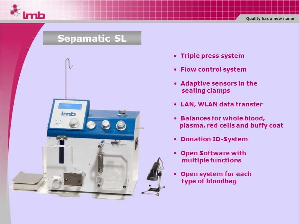 Sepamatic SL Triple press system Flow control system