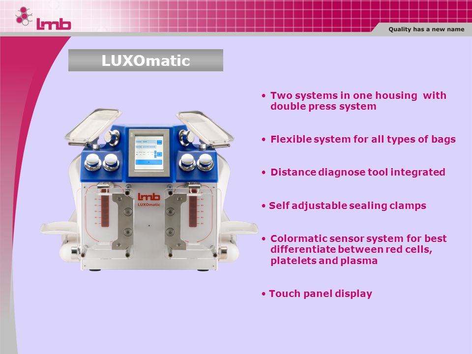LUXOmatic Two systems in one housing with double press system