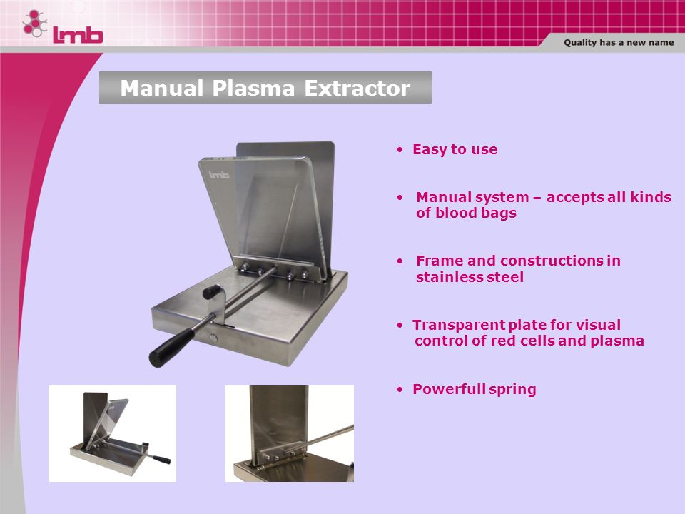 Manual Plasma Extractor