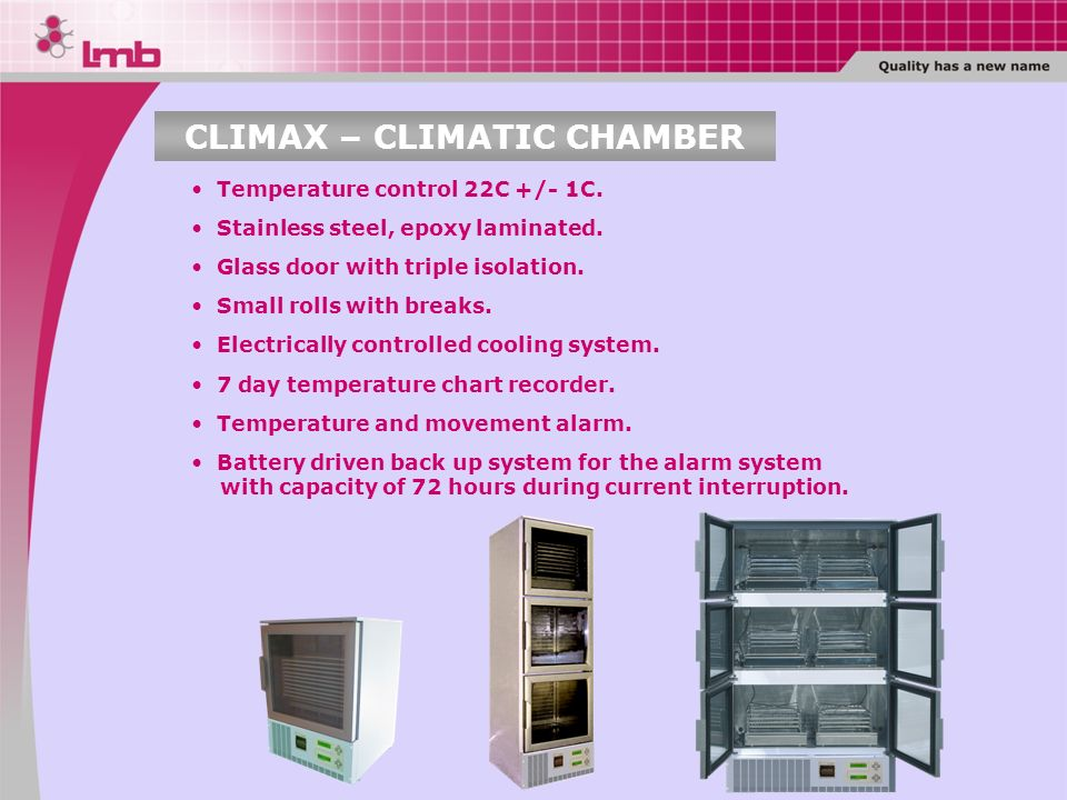 CLIMAX – CLIMATIC CHAMBER