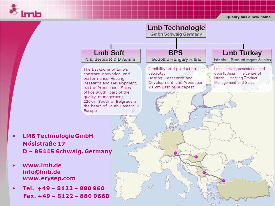 LMB Technologie GmbH Möslstraße 17 D – 85445 Schwaig, Germany