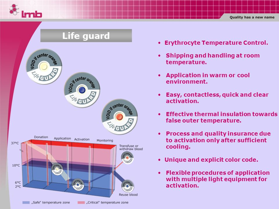 Life guard Erythrocyte Temperature Control.