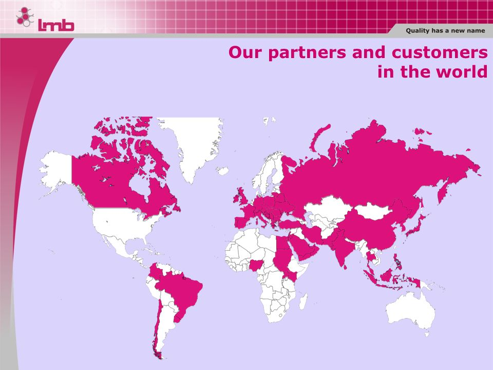 Our partners and customers in the world
