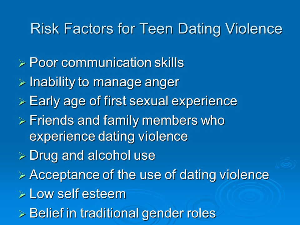 adolescent sexuality and risk factors Risk and protective factors for adolescent problem behaviors extensive research has identified factors that impact youth problem behaviors such as substance use, violence, suicide ideation, and early sexual activity.