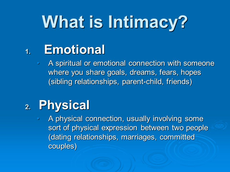 Physical intimacy in christian dating