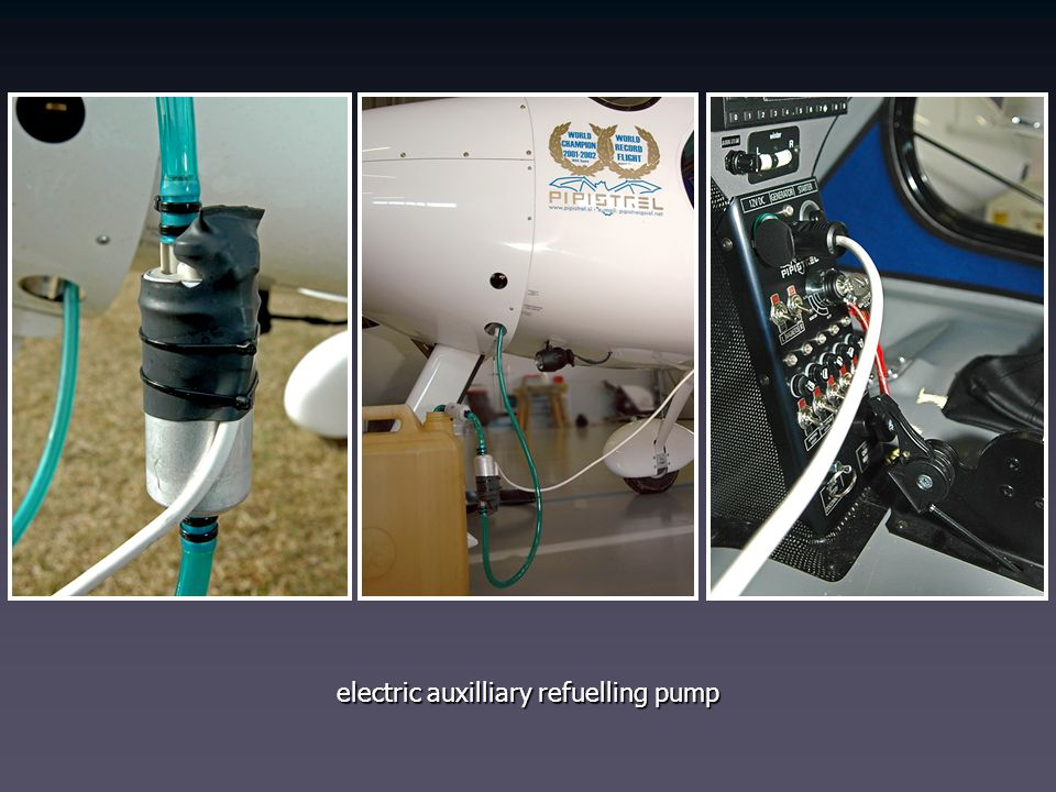 electric auxilliary refuelling pump