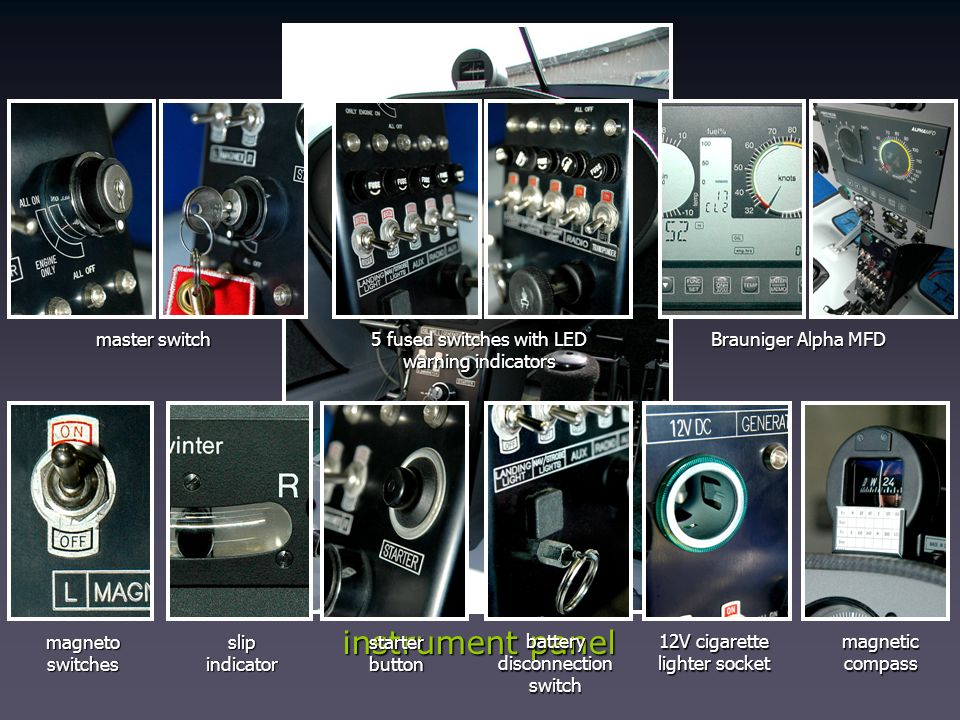 instrument panel master switch