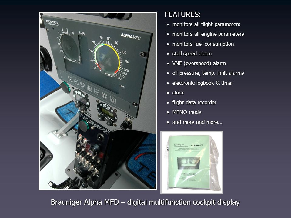 Brauniger Alpha MFD – digital multifunction cockpit display