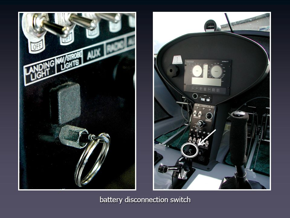 battery disconnection switch