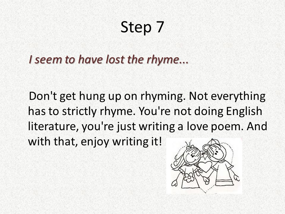 write a poem online Poetry published by over 400,000 amateur and expert poets in the world's largest poetry website browse, publish, and get critical feedback to improve your poems.