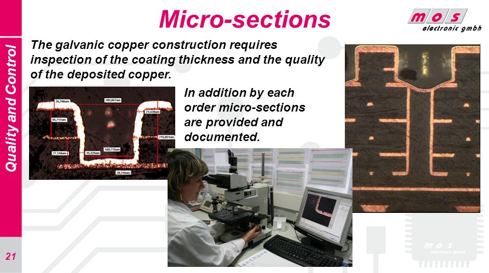 Micro-sections Quality and Control