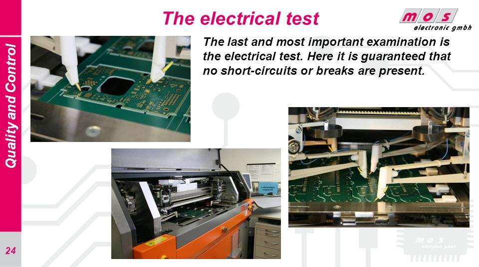 The electrical test Quality and Control