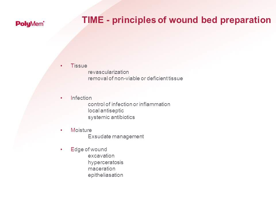 TIME - principles of wound bed preparation