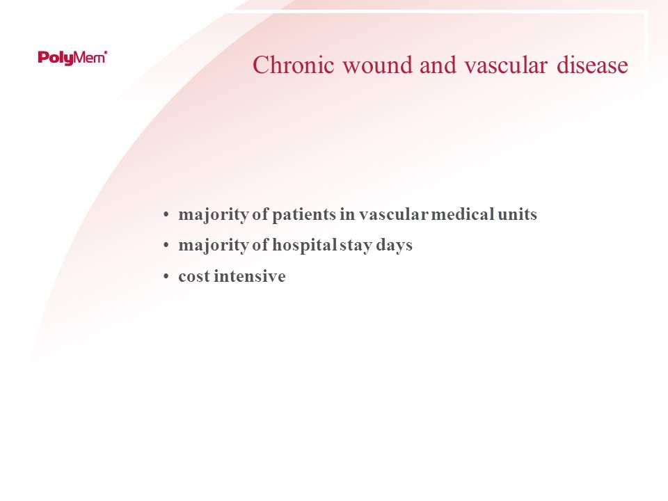 Chronic wound and vascular disease