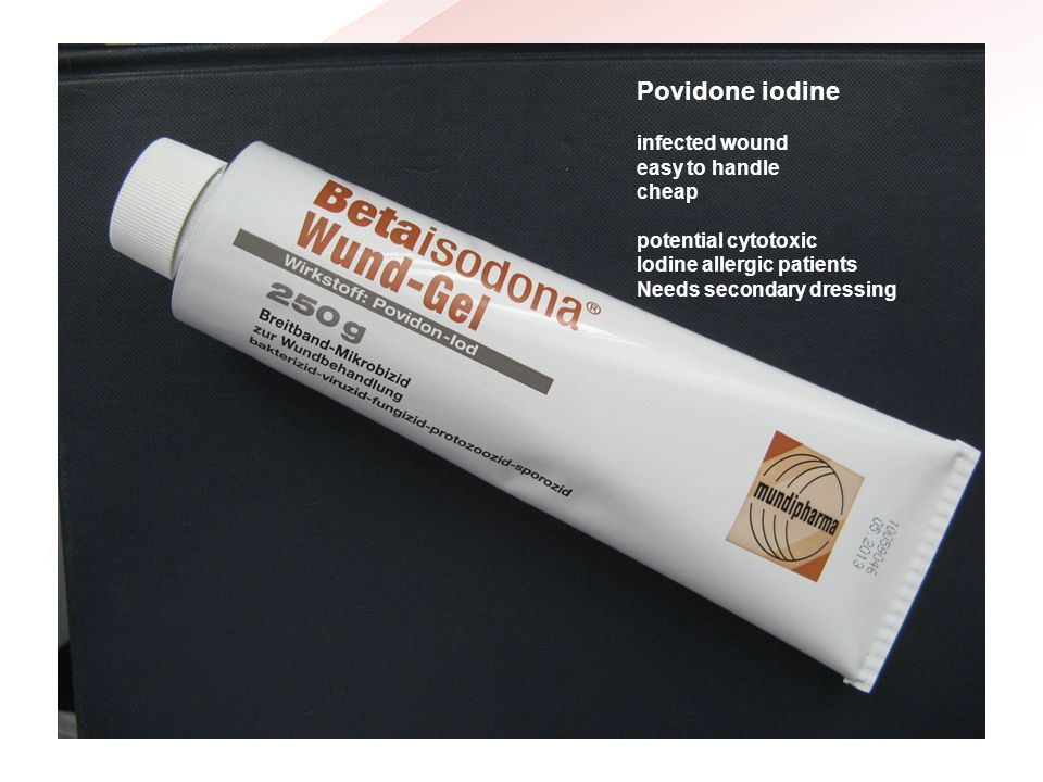 Povidone iodine infected wound easy to handle cheap