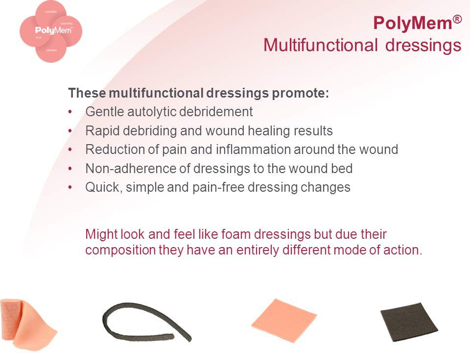 PolyMem® Multifunctional dressings