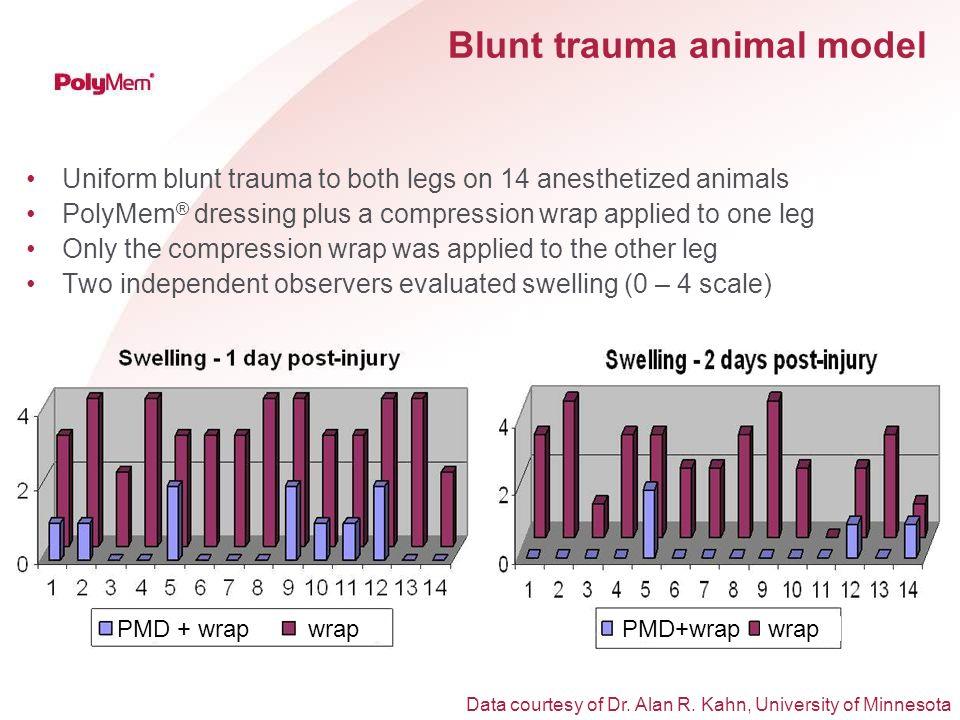 Blunt trauma animal model