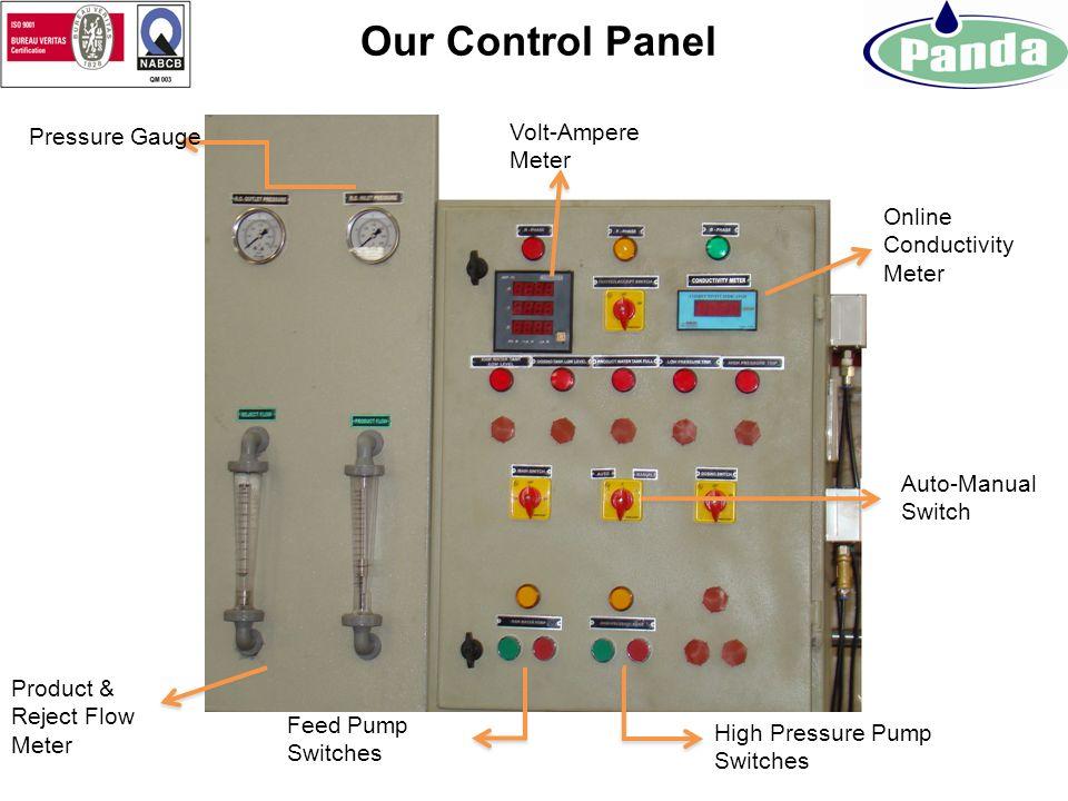 Our Control Panel Volt-Ampere Meter Pressure Gauge