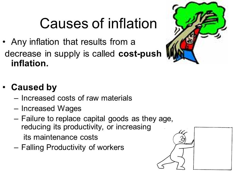 what are causes of inflation in L'inflation est la perte du pouvoir d'achat de la monnaie qui se traduit par une augmentation générale et durable des prix elle doit être distinguée de l'augme.