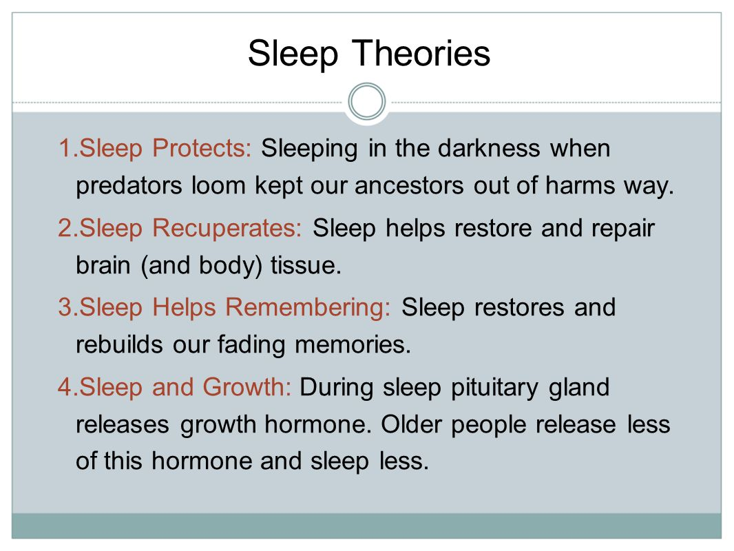 sleeping and dreaming and theories of For integrating dreaming into broader theories of conscious- ness (hobson   rem sleep and dreaming, information gathered during wak- ing life activities is.