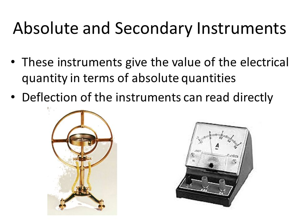 Electrical Measuring Instruments By Name : Definition metrology is the name given to science of