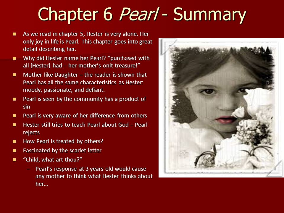 an analysis of hester prynns daughter pearl a character in the novel the scarlet letter by nathaniel