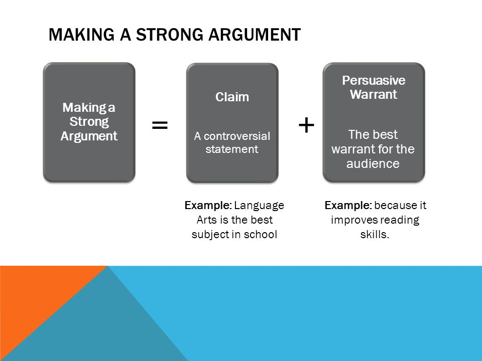 how to make a strong argument in debate