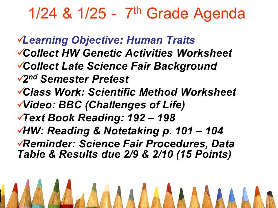 Genetics worksheets 7th grade