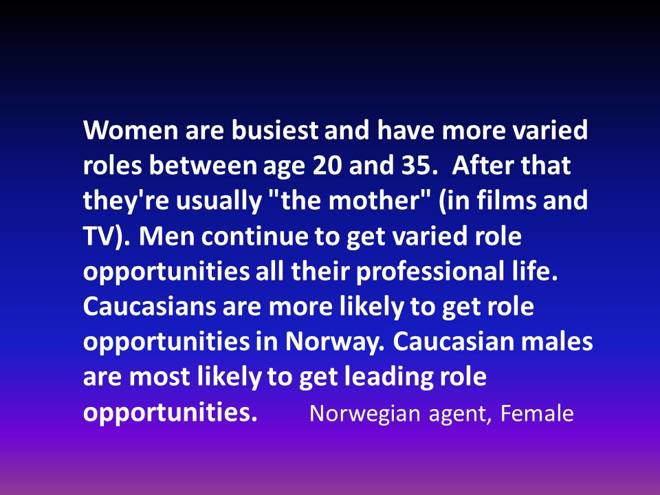 Women are busiest and have more varied roles between age 20 and 35