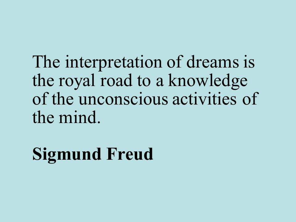 an analysis of sigmund freuds interpretation of dreams It is the most well known – and perhaps infamous – theory of dreams in the  western world at the turn of last century, sigmund freud published.