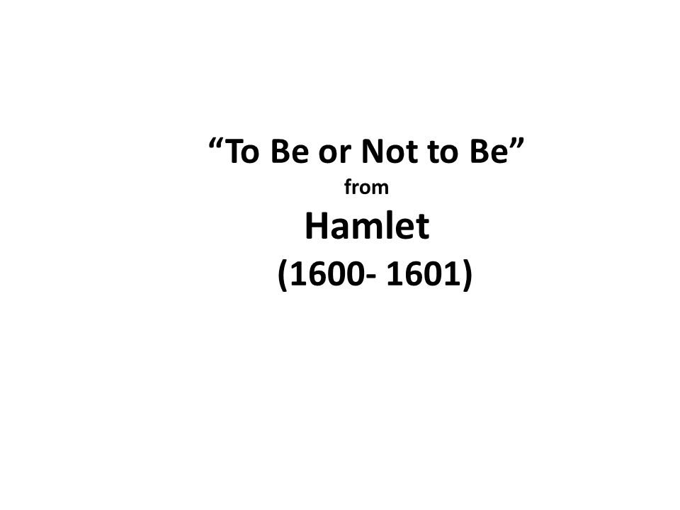 """antithesis hamlet to be or not to be The moral question in hamlet's soliloquy - to be or not to be  """"to be or not to  be"""" is a clear example of antithesis: """"a rhetorical or literary."""