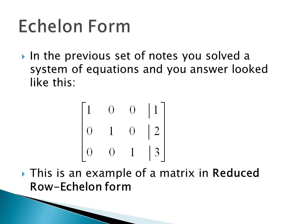 Chapter 1: Systems of Linear Equations and Matrices - ppt ...