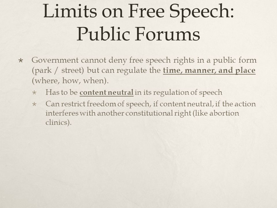 limitations on ones rights and freedom of speech essay But the freedom has certain limitations and people can use media, internet and other related sources but with certain limitations the freedom of expression and speech is questioned when the legal systems, societal values conflicts with the values and rights of others (lessing & mcleod, 2007).