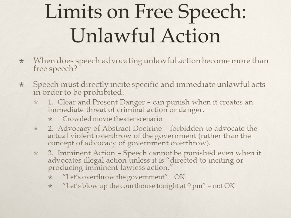 An analysis of the free speech and free action